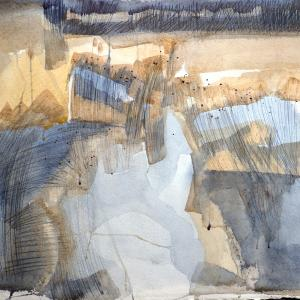 Ruth McCabe. Iken Reed Beds. Watercolour.