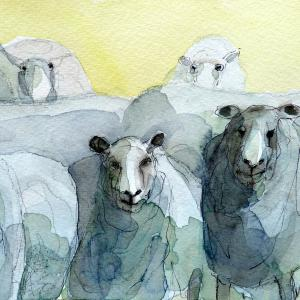 Ruth McCabe. Who are ewe looking at Watercolour.